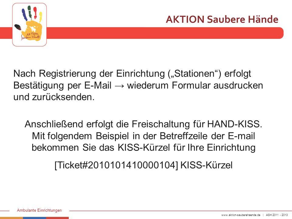 [Ticket#2010101410000104] KISS-Kürzel